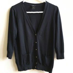 EUC Ann Taylor Black Button Cardigan Size: LP
